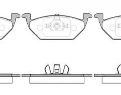 Колодки тормозные передние REMSA