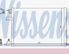 Радиатор кондиционера NISSENS
