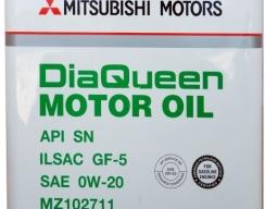 MITSUBISHI DiaQueen 0W-20 SN/GF-5 4L