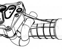 Корпус масляного фильтра с теплообменником LUZAR