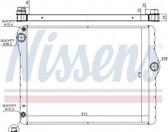 Радиатор охлаждения двигателя NISSENS